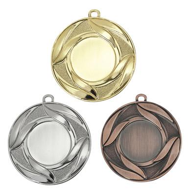 Подарочная медаль с объемным изображением лавра